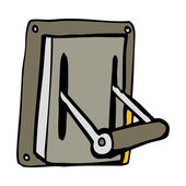 Cartoon industrial machine lever — Vector de stock