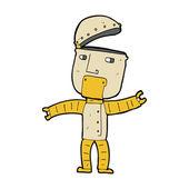 Robô engraçado dos desenhos animados — Vetor de Stock