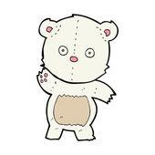 かわいい漫画のホッキョクグマ — ストックベクタ