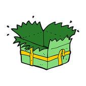 Cartoon open present — Vettoriale Stock