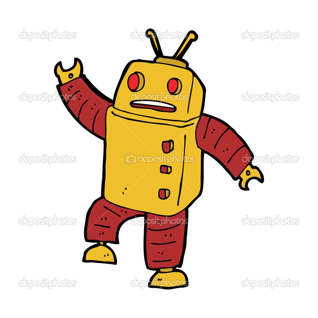 卡通机器人 — 图库矢量图片
