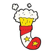 Cartoon magic christmas stocking — Stockvektor