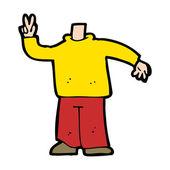 мультфильм тело, давая знак мира (смешивать и матч мультфильмы или добавить вл — Cтоковый вектор