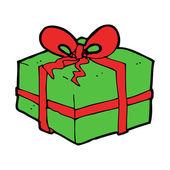 Cartoon christmas present — ストックベクタ
