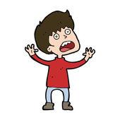 Cartoon stressad pojke — Stockvektor