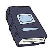 Cartoon old book — Stock Vector
