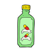 Cartoon old bottle of pills — Stock Vector