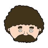Cartoon man met snor — Stockvector
