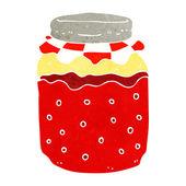 Cartoon jam jar — Stock Vector