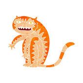 Dessin tigre — Vecteur