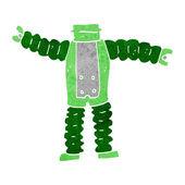 Cartoon robot body (mix and match cartoons or add own photos) — Stockvektor