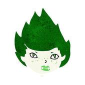 Cartoon vampiro cabeça — Vetor de Stock