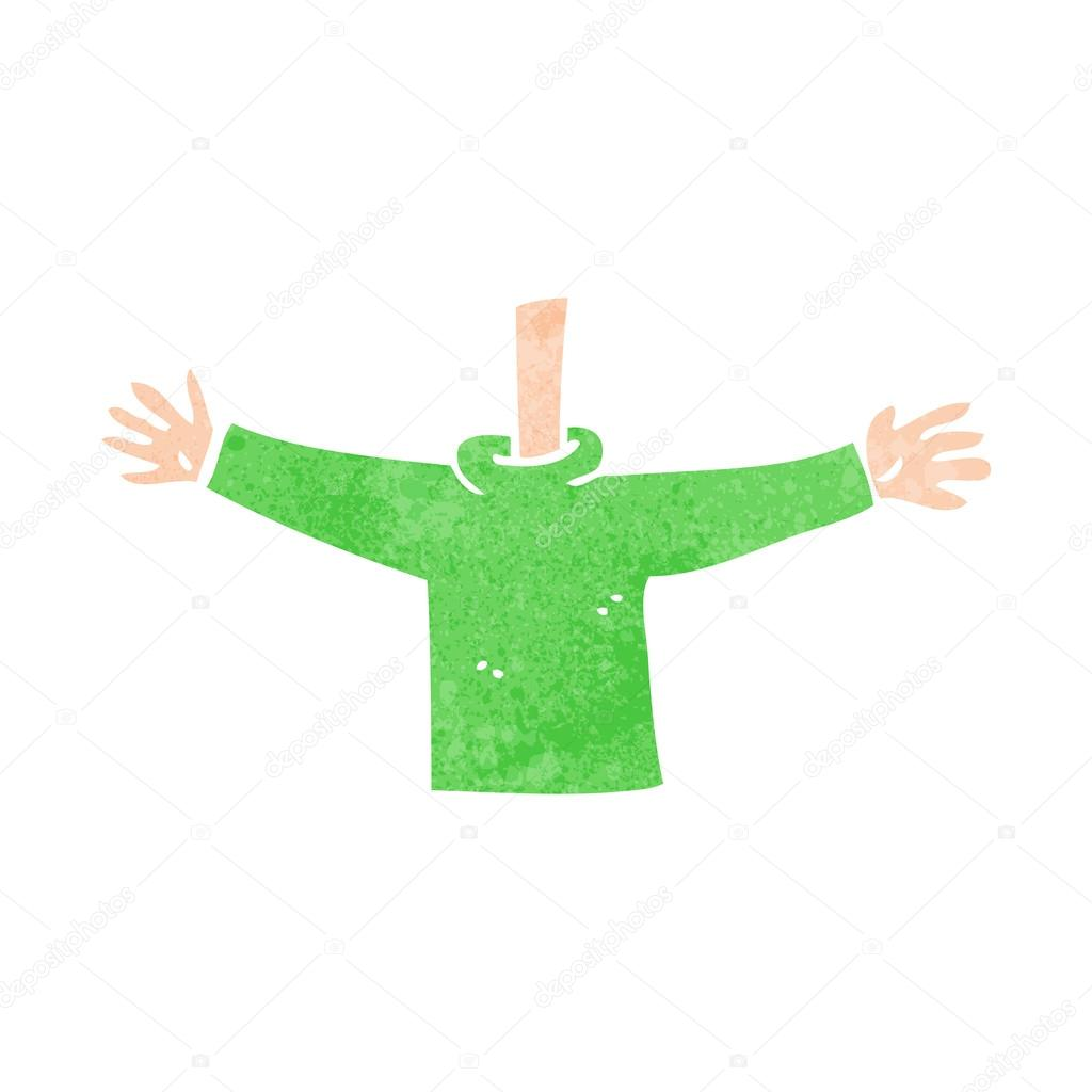 Cartoon body waving arms mix and match cartoons or add own phot