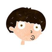Cartoon surprised boy — Stock Vector