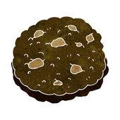 Chocolate chip cookie cartoon — Stockvektor