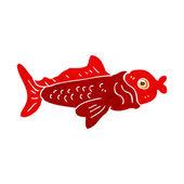 Cartone animato divertente pesce — Vettoriale Stock