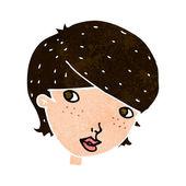 Miła kobieta kreskówka — Wektor stockowy