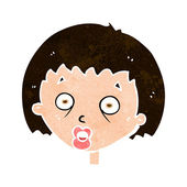 Cartoon shocked woman — Stock Vector
