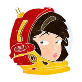 Cartoon female astronaut — Stock Vector