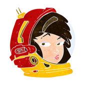 Cartoon female astronaut — Stock Vector