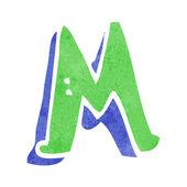 Cartoon letter M — Stock Vector