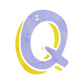 Cartoon letter Q — Stock Vector