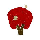 Cartoon tree with birdhouse — Stock Vector