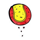 Cartoon tennis ball — Stock Vector