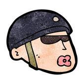 Cartoon policeman head — Stock Vector