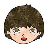 Cartoon girl staring — Stock Vector