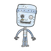 卡通搞笑机器人 — 图库矢量图片