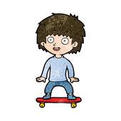 Cartoon boy on skateboard — Stock Vector