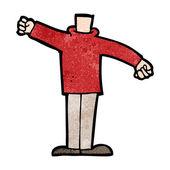 Cartoon lichaam armen zwaaien (mix en overeenkomen met cartoons of eigen phot toevoegen — Stockvector