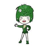 Cartoon vampire girl — Stock Vector