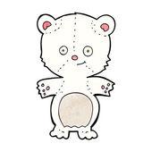 Cartoon polar bear cub — Vetor de Stock