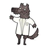 Cartoon wolf businessman — Stock Vector