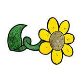 Cartoon flower — Stock Vector