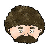 Cartoon man with mustache — Stock Vector