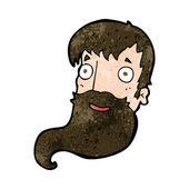 Cartoon bearded man — Vector de stock