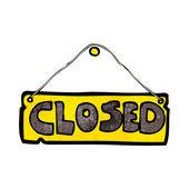 Cartoon closed shop sign — Stock Vector