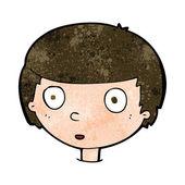 Niño curioso dibujos animados — Vector de stock