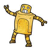 Robot de dibujos animados — Vector de stock