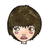 Cartoon unhappy girl — Stock Vector
