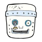 Cartoon robot head — ストックベクタ