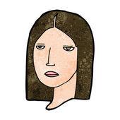 Cartoon serious woman — Stock Vector