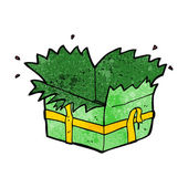 Cartoon open present — Vetorial Stock