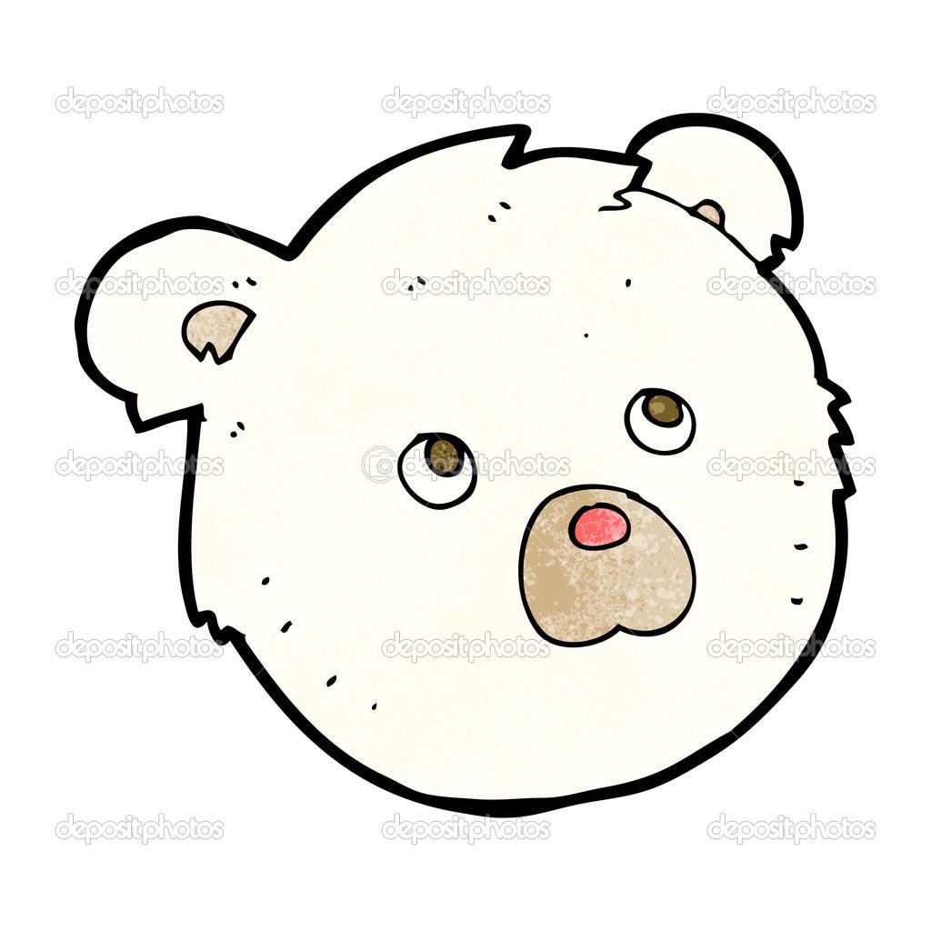 Cartone animato faccia orso polare — vettoriali stock