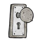 Poignée de porte en vieux dessin animé — Vecteur