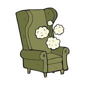 Cartoon old chair — Stock Vector