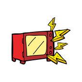 Kuchenka mikrofalowa kreskówka — Wektor stockowy